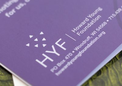 Howard Young Foundation Logo with Spot UV