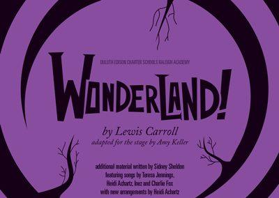 Duluth Edison Charter Schools - Wonderland Playbill