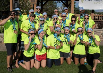 Minocqua Dragon Boat Festival Team BJ's - Tee Shirt, Medal, and Headband Designed by Stigsell Creative